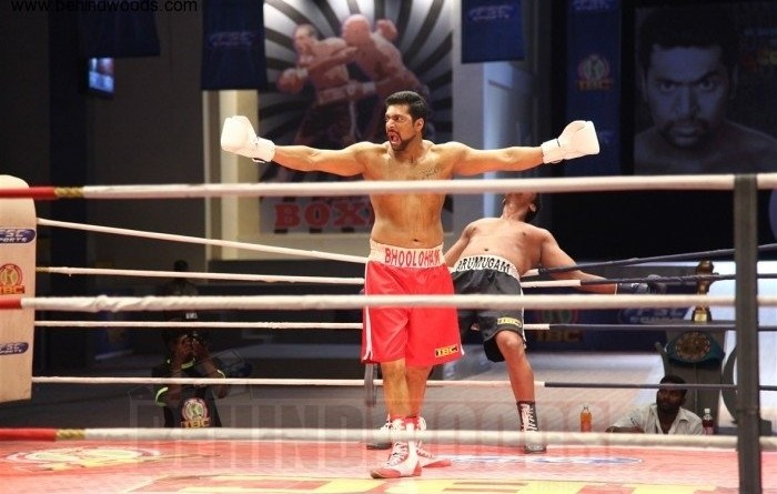 Jayam Ravi's impressive portrayal as a champion boxer.