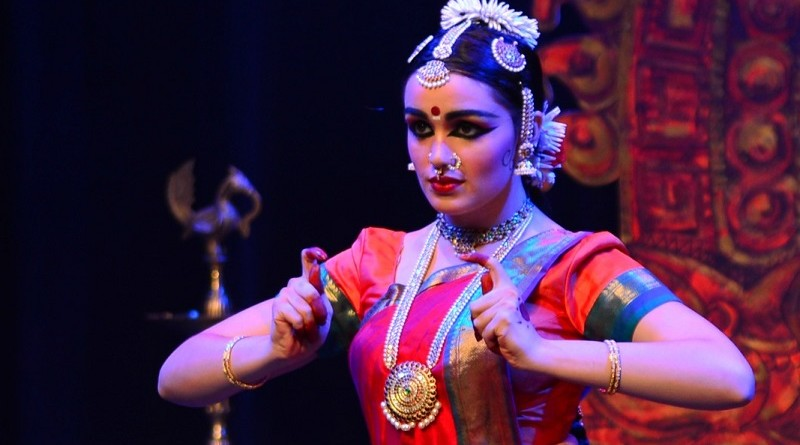 Vinod Shankar Menon's shot of Shaan Talya Hayes performing in her arangetram on Feb 26.